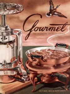 Gourmet Cover - October 1952 by Henry Stahlhut