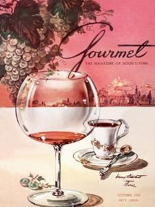Gourmet Cover - October 1953 by Henry Stahlhut