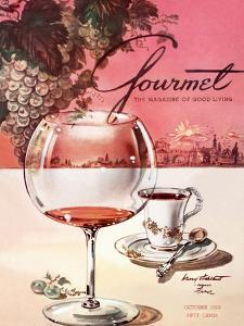 Gourmet Cover - October 1953 by Henry Stahlhut