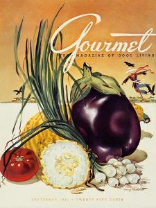 Gourmet Cover - September 1944 by Henry Stahlhut
