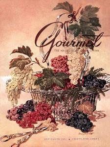 Gourmet Cover - September 1951 by Henry Stahlhut