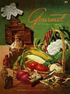 Gourmet Cover - September 1952 by Henry Stahlhut