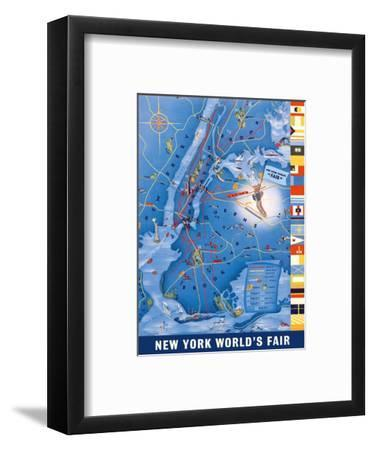 New York City Map - World's Fair 1939