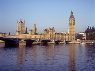 Houses of Parliament and Big Ben on the River Thames, London, England, UK by Henry Steadman