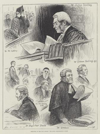 Sketches in the Law Courts, the Lord Chancellor's Court