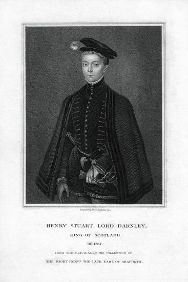 Henry Stuart, Lord Darnley, Second Husband of Mary, Queen of Scots-H Robinson-Giclee Print