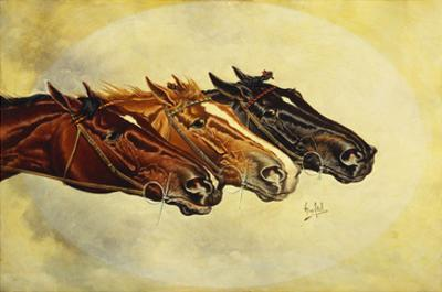 The Celebrated Race Horses 'Henry of Navarre', 'Monitor' and 'Dominoe' by Henry Stull