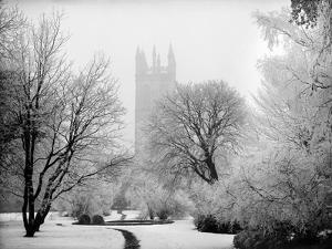 Magdalen College, Oxford, Oxfordshire in the Snow by Henry Taunt