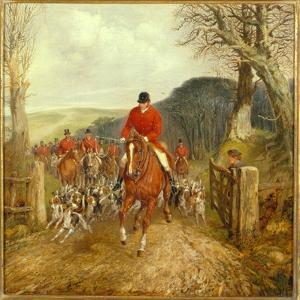 A Hunt Going Through a Gate by Henry Thomas Alken