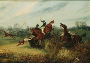 An Incident in the Lucas Winter Meeting by Henry Thomas Alken