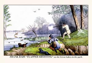 Frank Raby Flapper Shooting on the Great Lakes in the Park by Henry Thomas Alken
