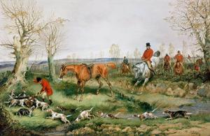Hunting Scene by Henry Thomas Alken