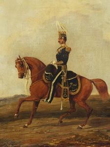 Mounted Officer of 13th Hussars in Full Dress, 19th Century by Henry Thomas Alken