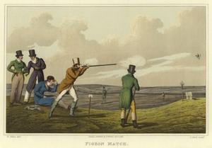 Pigeon Match by Henry Thomas Alken