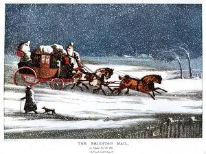 The Brighton Mail on Christmas Day, 1836 by Henry Thomas Alken