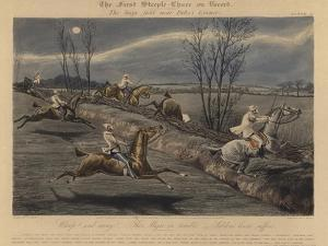 The First Steeple Chase on Record, 1839 by Henry Thomas Alken