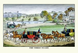 The Three Horse Teams by Henry Thomas Alken