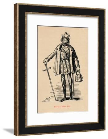 'Henry Tudor, Esq.',-John Leech-Framed Giclee Print