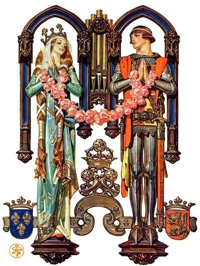 """Henry V and His French Bride,""July 26, 1930-Joseph Christian Leyendecker-Giclee Print"