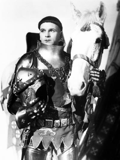 Henry V, Laurence Olivier, 1944, with Horse--Photo