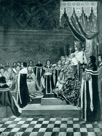 Henry VI Opening Parliament with His Mother-Arthur David McCormick-Giclee Print