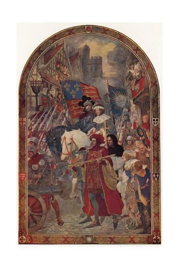 Henry VI, the Battle of Barnet, 1471-John Henry Amschewitz-Giclee Print