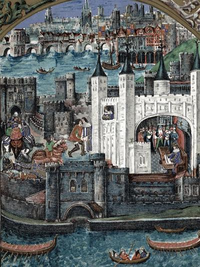 Henry VII at the Tower of London, 1485-1509--Giclee Print