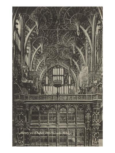 Henry VII Chapel, Westminster Abbey, London, England--Art Print