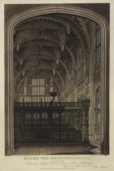 Henry VII Chapel, Westminster Abbey, London-Joseph Constantine Stadler-Giclee Print
