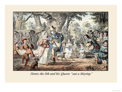 Henry VIII and His Queen Out A'maying-John Leech-Art Print