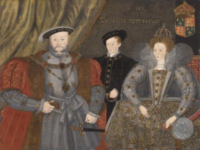 Henry Viii, Elizabeth I, and Edward Vi, 1597--Giclee Print