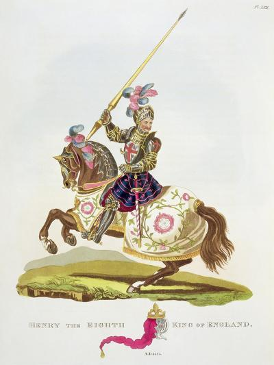 """Henry VIII, King of England 1525, from """"Ancient Armour"""" by Samuel Rush Meyrick, 1824--Giclee Print"""