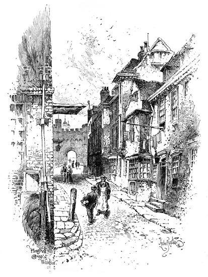 Henry VIII's Gateway, Windsor Castle, C1888-Herbert Arthur-Giclee Print