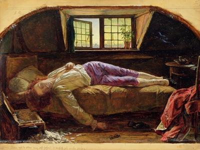 The Death of Chatterton, C.1856 (Oil on Panel)