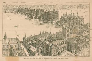 London Bridge and its Surroundings About the Year 1600 by Henry William Brewer