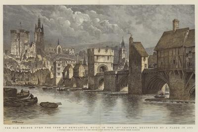 The Old Bridge over the Tyne at Newcastle, Built in the 13th Century, Destroyed by a Flood in 1771