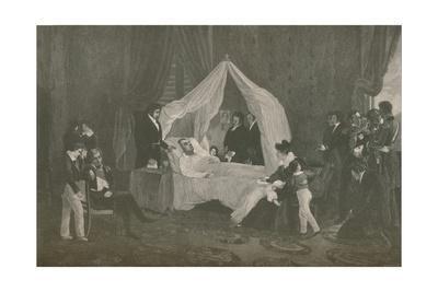 'Death of Napoleon I', 1821, (1896)
