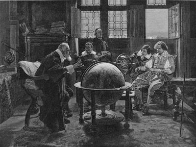 Galileo Galilei Italian Astronomer Visited by the English Poet John Milton