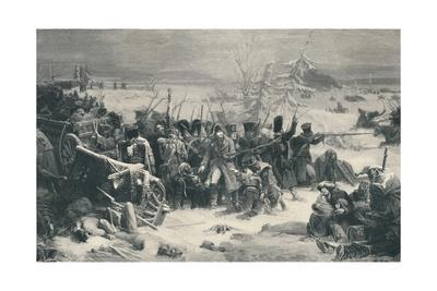 'Marshal Ney Sustaining The Rear-Guard of the Grand Army', 1812, (1896)
