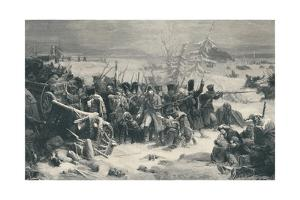'Marshal Ney Sustaining The Rear-Guard of the Grand Army', 1812, (1896) by Henry Wolf