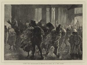 After the Bal-Masque, a Sketch in Paris on a Wet Night by Henry Woods