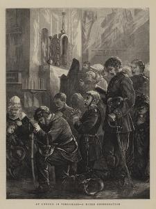 At Church in Versailles, a Mixed Congregation by Henry Woods