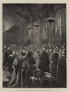Hrh Prince Arthur Unveiling the Albert Memorial Window at Guildhall by Henry Woods