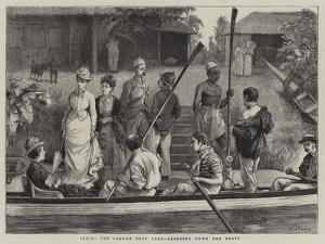 India, the Poonah Boat Club, Bringing Down the Boats by Henry Woods