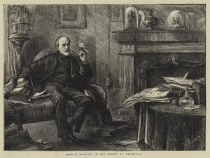 Joseph Mazzini in His Study at Brompton by Henry Woods