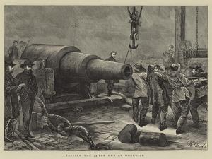 Testing the 35-Ton Gun at Woolwich by Henry Woods