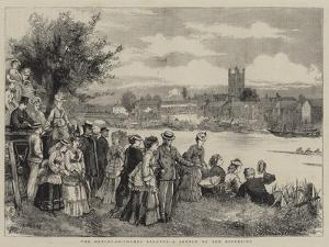 The Henley-On-Thames Regatta, a Sketch by the Riverside by Henry Woods