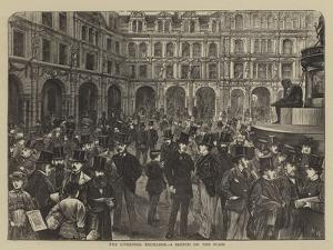 The Liverpool Exchange, a Sketch on the Flags by Henry Woods