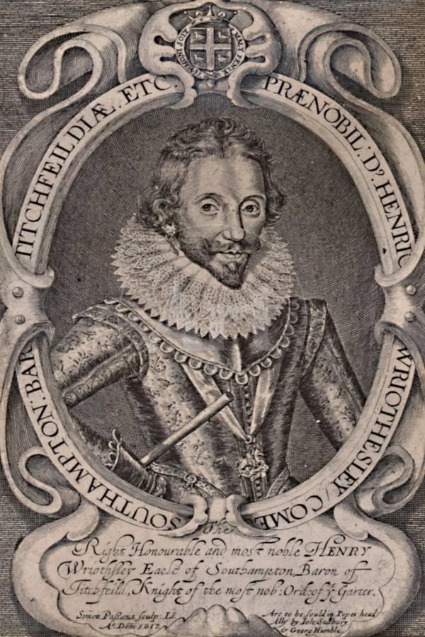 Henry Wriothesley, Earl of Southampton, patron of William Shakespeare,  c1617 (1894) Giclee Print by Simon de Passe   Art com