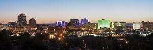 Usa, New Mexico, Albuquerque, Panoramic Cityscape at Dusk by Henryk Sadura